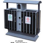 钢木垃圾桶QLGM-058
